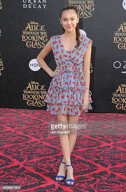 Actress Olivia Rodrigo arrives at the Los Angeles Premiere Alice Through The Looking Glass at the El Capitan Theatre on May 23 2016 in Hollywood...