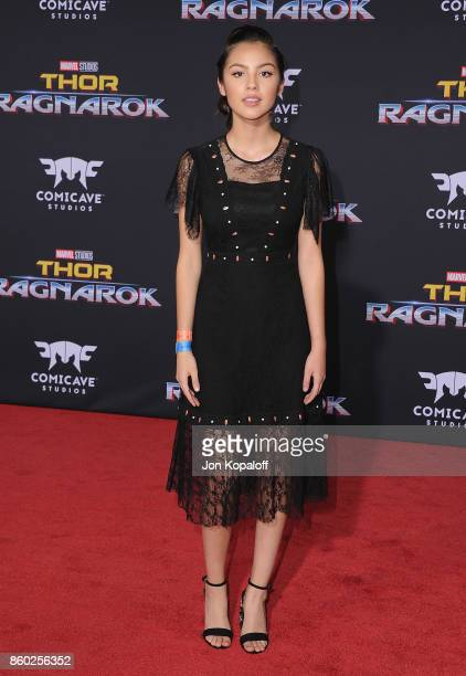 Actress Olivia Rodrigo arrives at the Los Angeles Premiere 'Thor Ragnarok' on October 10 2017 in Hollywood California