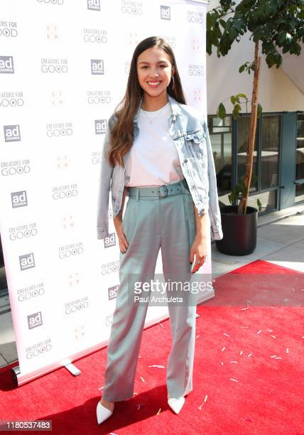 Actress Olivia Rodrigo attends the Ad Council's Creators For Good Host She Can STEM Summit at NeueHouse Hollywood on October 11 2019 in Los Angeles...