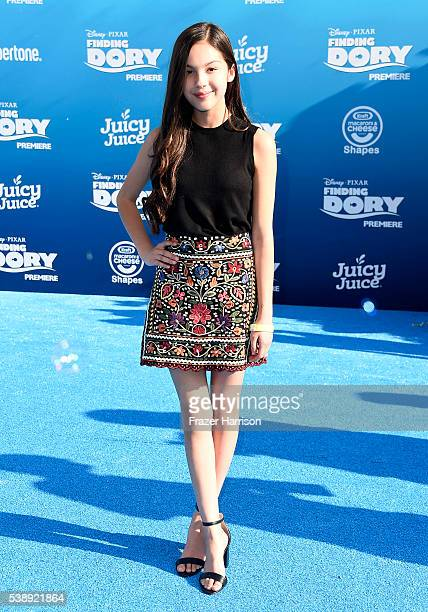 Actress Olivia Rodrigo attends the world premiere of DisneyPixar's 'Finding Dory' at the El Capitan Theatre on June 8 2016 in Hollywood California