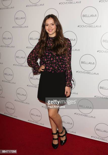 Actress Olivia Sanabia attends the launch party for the Dove x BELLAMI collection at Unici Casa Gallery on December 2 2017 in Culver City California