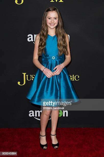 Actress Olivia Sanabia attends the premiere of Amazon's Just Add Magic at ArcLight Hollywood on January 14 2016 in Hollywood California