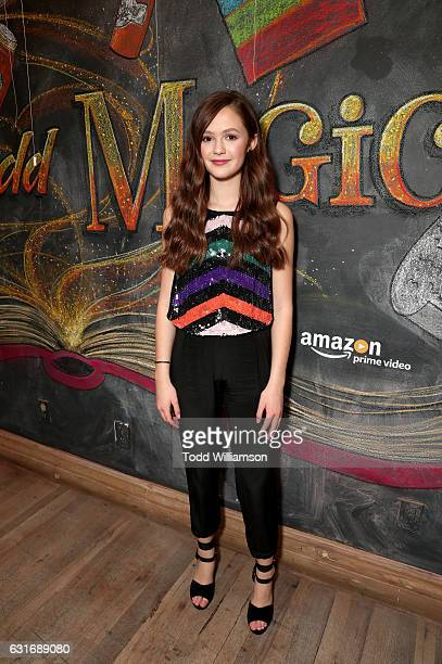 Actress Olivia Sanabia attends the second season premiere of Amazon Original Series 'Just Add Magic' at Au Fudge on January 14 2017 in West Hollywood...