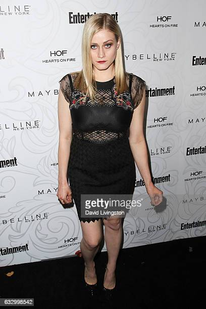 Actress Olivia Taylor Dudley arrives at the Entertainment Weekly celebration honoring nominees for The Screen Actors Guild Awards at the Chateau...