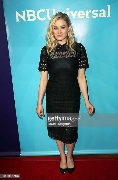 Actress Olivia Taylor Dudley attends the 2017 NBCUniversal Winter Press Tour Day 1 at the Langham Hotel on January 17 2017 in Pasadena California