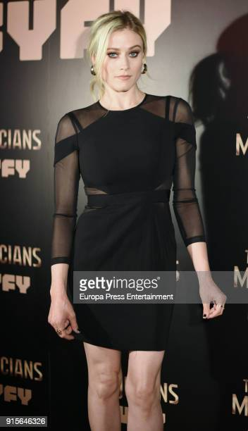 Actress Olivia Taylor Dudley attends The Magicians Premiere in Madrid on February 7 2018 in Madrid Spain