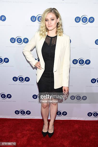 Actress Olivia Taylor Dudley attends Universal Cable Productions ComicCon Celebration during ComicCon International 2016 at Omnia Nightclub on July...