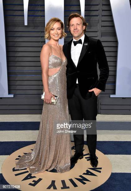 Actress Olivia Wilde and actor Jason Sudeikis attend the 2018 Vanity Fair Oscar Party hosted by Radhika Jones at Wallis Annenberg Center for the...