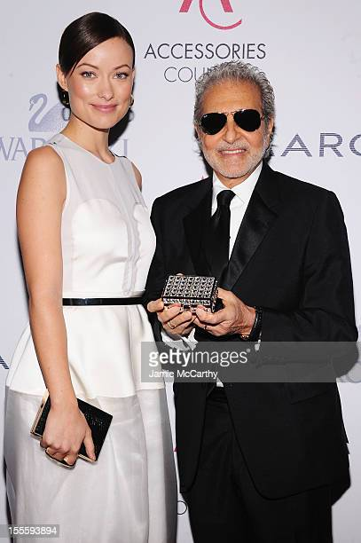 Actress Olivia Wilde and designer Vince Camuto attend the 16th Annual ACE Awards presented by the Accessories Council at Cipriani 42nd Street on...