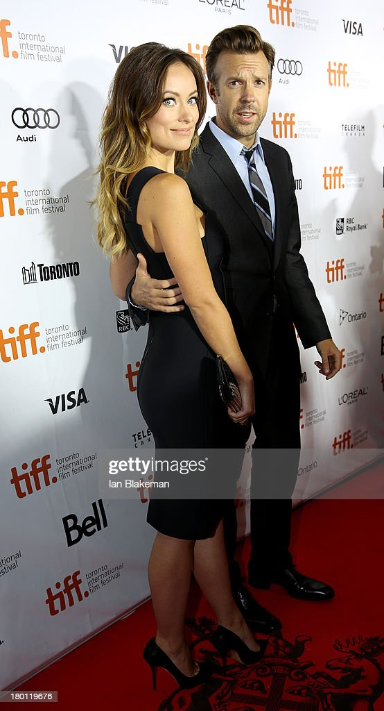 Actress Olivia Wilde (L) and Jason Sudeikis attend the 'Rush' premiere during the 2013 Toronto International Film Festival at Roy Thomson Hall on September 8, 2013 in Toronto, Canada.