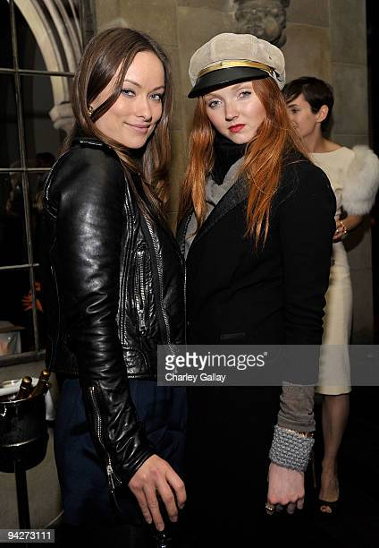 **EXCLUSIVE** Actress Olivia Wilde and model/actress Lily Cole attend Roland Mouret's Rainbow Collection launch for NETAPORTER held at Chateau...