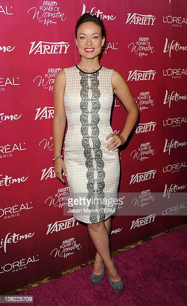Actress Olivia Wilde arrives at 3rd Annual Variety's Power of Women Event presented by Lifetimeon at the Beverly Wilshire Four Seasons Hotel...