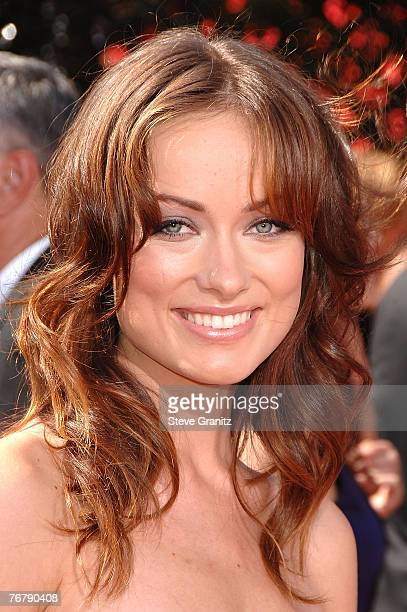 Actress Olivia Wilde arrives at the 59th Annual Primetime Emmy Awards at the Shrine Auditorium on September 16 2007 in Los Angeles California