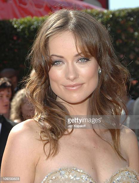 Actress Olivia Wilde arrives at the 59th Primetime EMMY Awards at the Shrine Auditorium on September 16 2007 in Los Angeles California