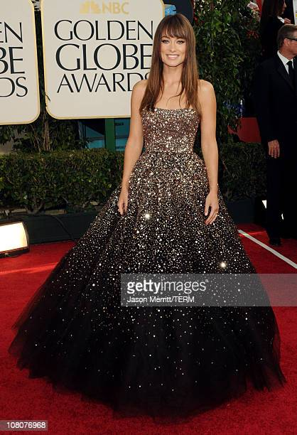 Actress Olivia Wilde arrives at the 68th Annual Golden Globe Awards held at The Beverly Hilton hotel on January 16 2011 in Beverly Hills California