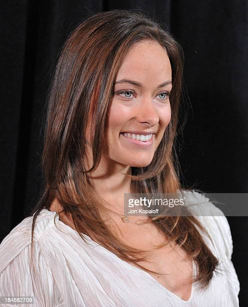 Actress Olivia Wilde arrives at the DIC/InStyle's 9th Annual Awards Season Diamond Fashion Show Preview at Beverly Hills Hotel on January 14 2010 in...