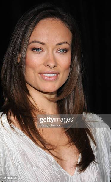 Actress Olivia Wilde arrives at the DIC/InStyle's 9th Annual Awards Season Diamond Fashion Show Preview at the Beverly Hills Hotel on January 14 2010...