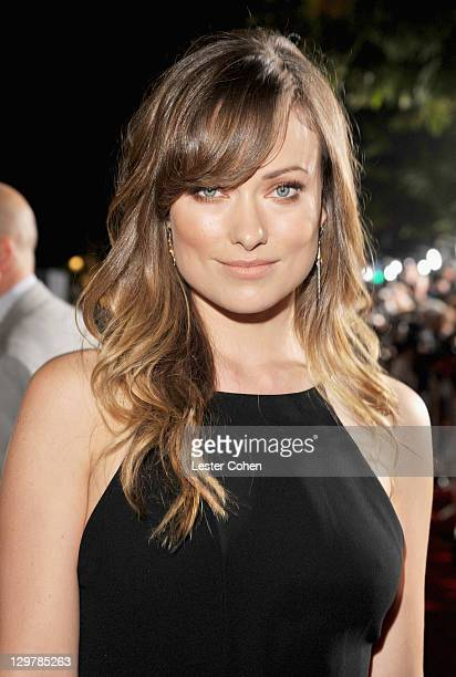 Actress Olivia Wilde arrives at the 'In Time' Los Angeles Premiere at Regency Village Theatre on October 20 2011 in Westwood California
