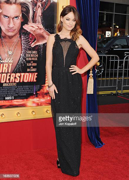Actress Olivia Wilde arrives at the Los Angeles Premiere 'The Incredible Burt Wonderstone' at TCL Chinese Theatre on March 11 2013 in Hollywood...