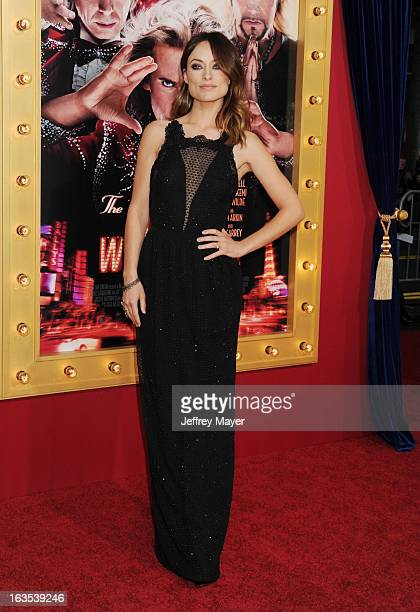 Actress Olivia Wilde arrives at the 'The Incredible Burt Wonderstone' Los Angeles Premiere at TCL Chinese Theatre on March 11 2013 in Hollywood...