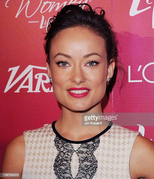 Actress Olivia Wilde arrives at Variety's 3rd Annual Power Of Women Luncheon at the Beverly Wilshire Four Seasons Hotel on September 23, 2011 in...