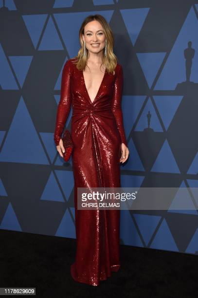 US actress Olivia Wilde arrives to attend the 11th Annual Governors Awards gala hosted by the Academy of Motion Picture Arts and Sciences at the...