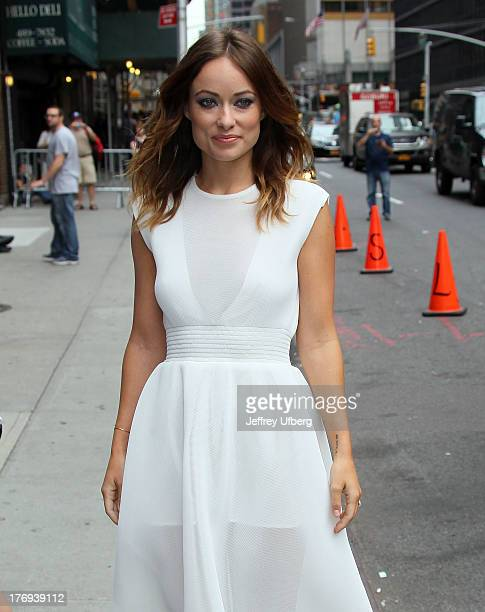Actress Olivia Wilde arrives to 'Late Show with David Letterman' at Ed Sullivan Theater on August 19 2013 in New York City
