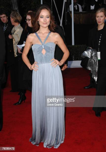 Actress Olivia Wilde arrives to the 14th Annual Screen Actors Guild Awards at the Shrine Auditorium on January 27 2008 in Los Angeles California