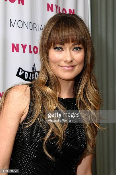 Actress Olivia Wilde arttends the NYLON Volcom celebration of the August Denim Issue hosted by Olivia Wilde at the SkyBar at the Mondrian Los Angeles...