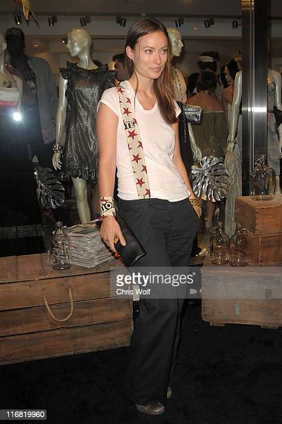 Actress Olivia Wilde at Beckley Boutique opening on June 12 2008 in West Hollywood California