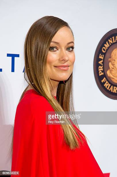 Actress Olivia Wilde attends Friars Club honors Martin Scorsese with Entertainment Icon Award at Cipriani Wall Street on September 21 2016 in New...