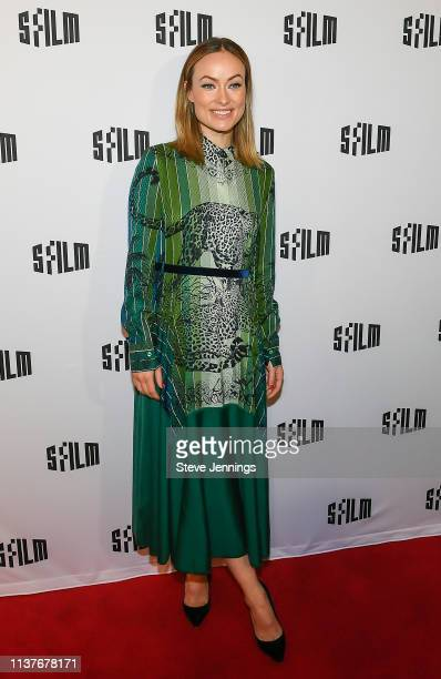 Actress Olivia Wilde attends her Directorial debut of Booksmart at the SFFILM Festival at the Castro Theatre on April 10 2019 in San Francisco...