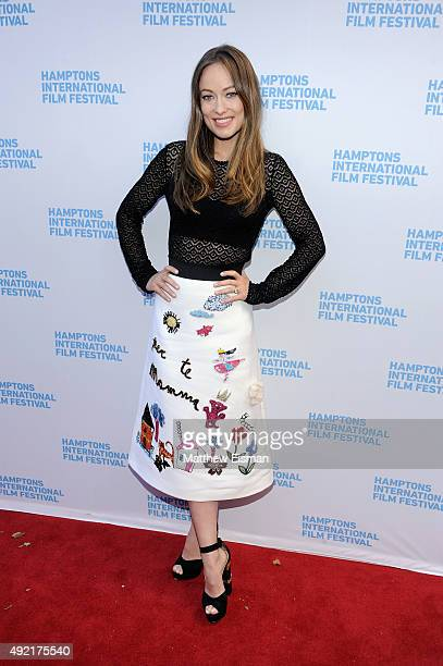Actress Olivia Wilde attends 'Meadowland' photo call on Day 3 of the 23rd Annual Hamptons International Film Festival on October 10, 2015 in East...