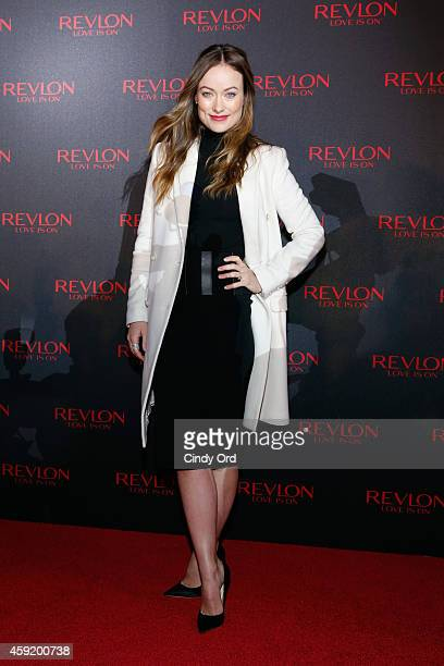 Actress Olivia Wilde attends Revlon LOVE IS ON With Olivia Wilde in Times Square on November 18 2014 in New York City