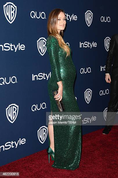Actress Olivia Wilde attends the 2014 InStyle and Warner Bros 71st Annual Golden Globe Awards PostParty on January 12 2014 in Beverly Hills California