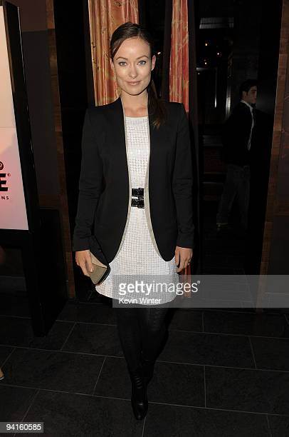 Actress Olivia Wilde attends the 2nd annual Golden Globes party saluting young Hollywood held at Nobu Los Angeles on December 8 2009 in West...
