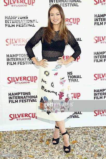 Actress Olivia Wilde attends the Chairman's Reception during Day 3 of the 23rd Annual Hamptons International Film Festival on October 10 2015 in East...