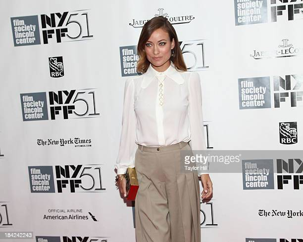 Actress Olivia Wilde attends the Closing Night Gala Presentation Of Her during the 51st New York Film Festival at Alice Tully Hall at Lincoln Center...