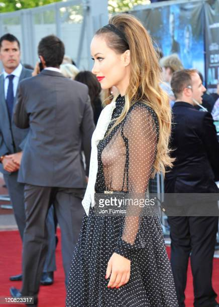 Actress Olivia Wilde attends the Cowboys Aliens UK premiere at Cineworld 02 Arena on August 11 2011 in London England