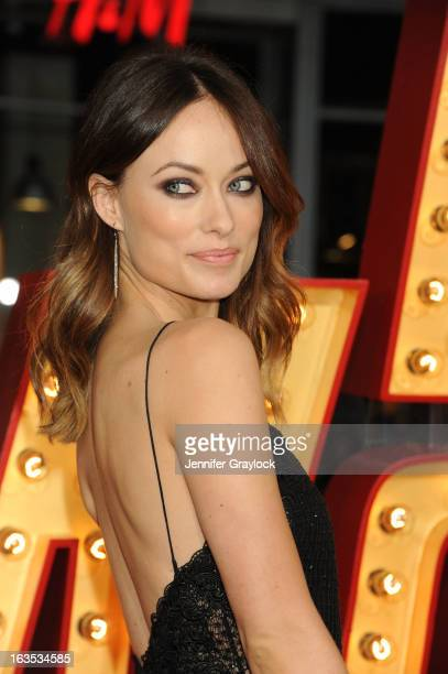 Actress Olivia Wilde attends 'The Incredible Burt Wonderstone' Los Angeles premiere held at TCL Chinese Theatre on March 11 2013 in Hollywood...