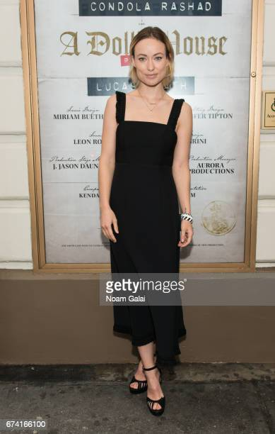 Actress Olivia Wilde attends the opening night on Broadway of Lucas Hnath's 'A Doll's House Part 2' starring Laurie Metcalf and Chris Cooper at...