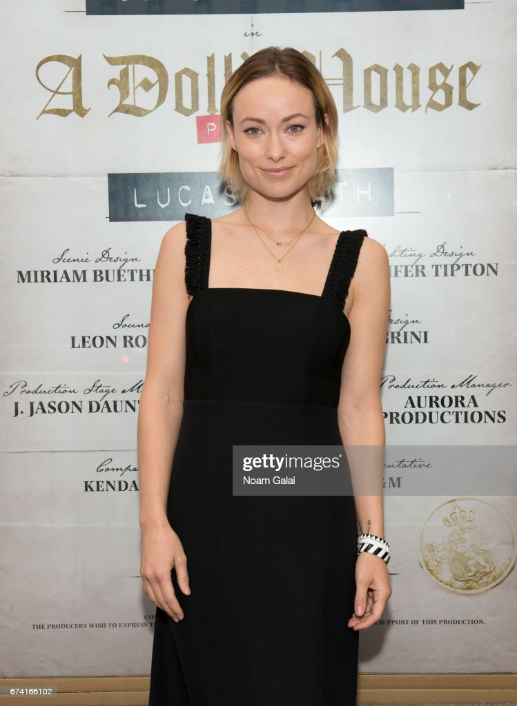 Actress Olivia Wilde attends the opening night on Broadway of Lucas Hnath's 'A Doll's House, Part 2' starring Laurie Metcalf and Chris Cooper at Golden Theatre on April 27, 2017 in New York City.