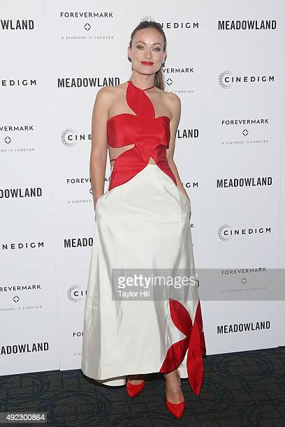 Actress Olivia Wilde attends the premiere of 'Meadowland' at Sunshine Landmark on October 11 2015 in New York City