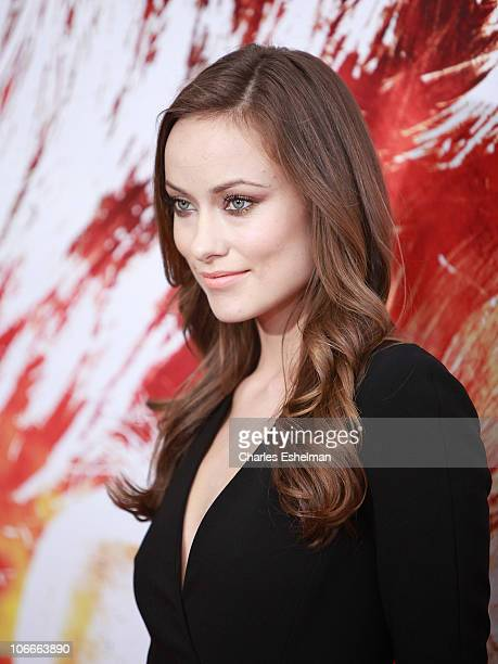 Actress Olivia Wilde attends the premiere of The Next Three Days at the Ziegfeld Theatre on November 9 2010 in New York City