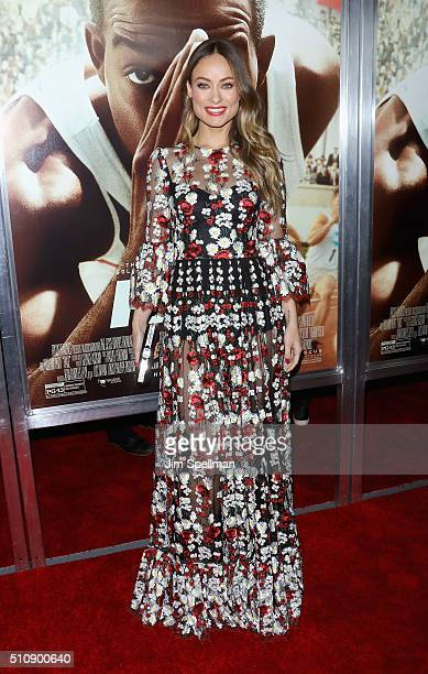 Actress Olivia Wilde attends the 'Race' New York screening at Landmark's Sunshine Cinema on February 17 2016 in New York City