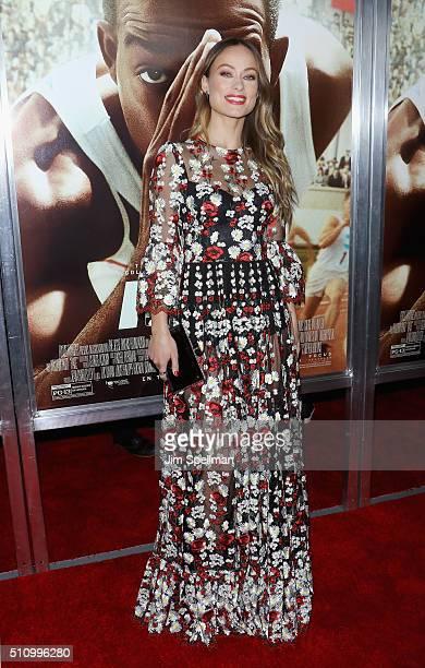 Actress Olivia Wilde attends the Race New York screening at Landmark's Sunshine Cinema on February 17 2016 in New York City
