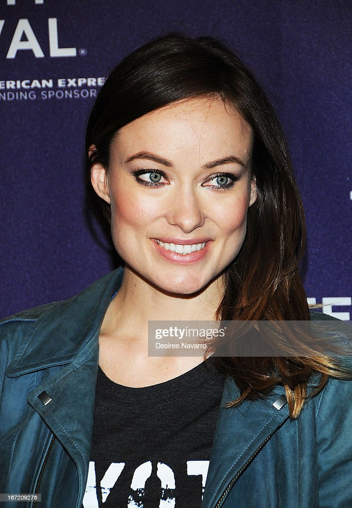 Actress Olivia Wilde attends 'The Rider And The Storm' Screening during the Shorts Program - Character Witness at the 2013 Tribeca Film Festival at AMC Loews Village 7 on April 22, 2013 in New York City.