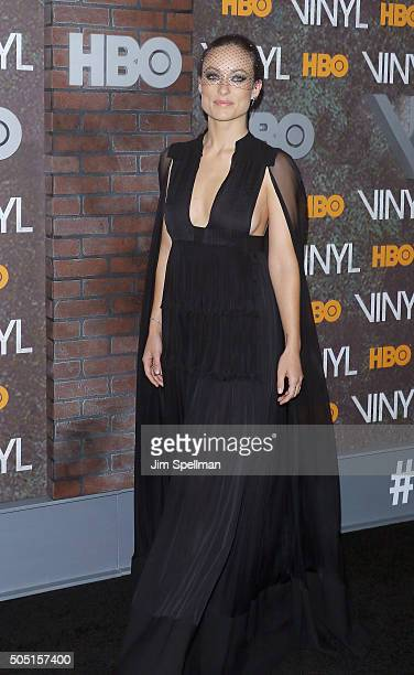 Actress Olivia Wilde attends the 'Vinyl' New York premiere at Ziegfeld Theatre on January 15 2016 in New York City