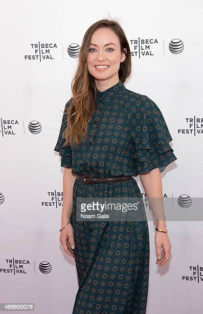 Actress Olivia Wilde attends Tribeca Talks Master Class ARC Adorama Rental Company The Producers during the 2015 Tribeca Film Festival at SVA Theatre...