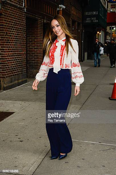 Actress Olivia Wilde enters 'The Late Show With Stephen Colbert' taping at the Ed Sullivan Theater on February 9 2016 in New York City